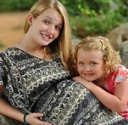 Pregnant Anna with Alana