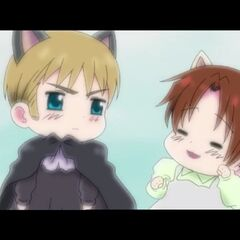 Holy Roman Empire and Chibitalia with cat ears