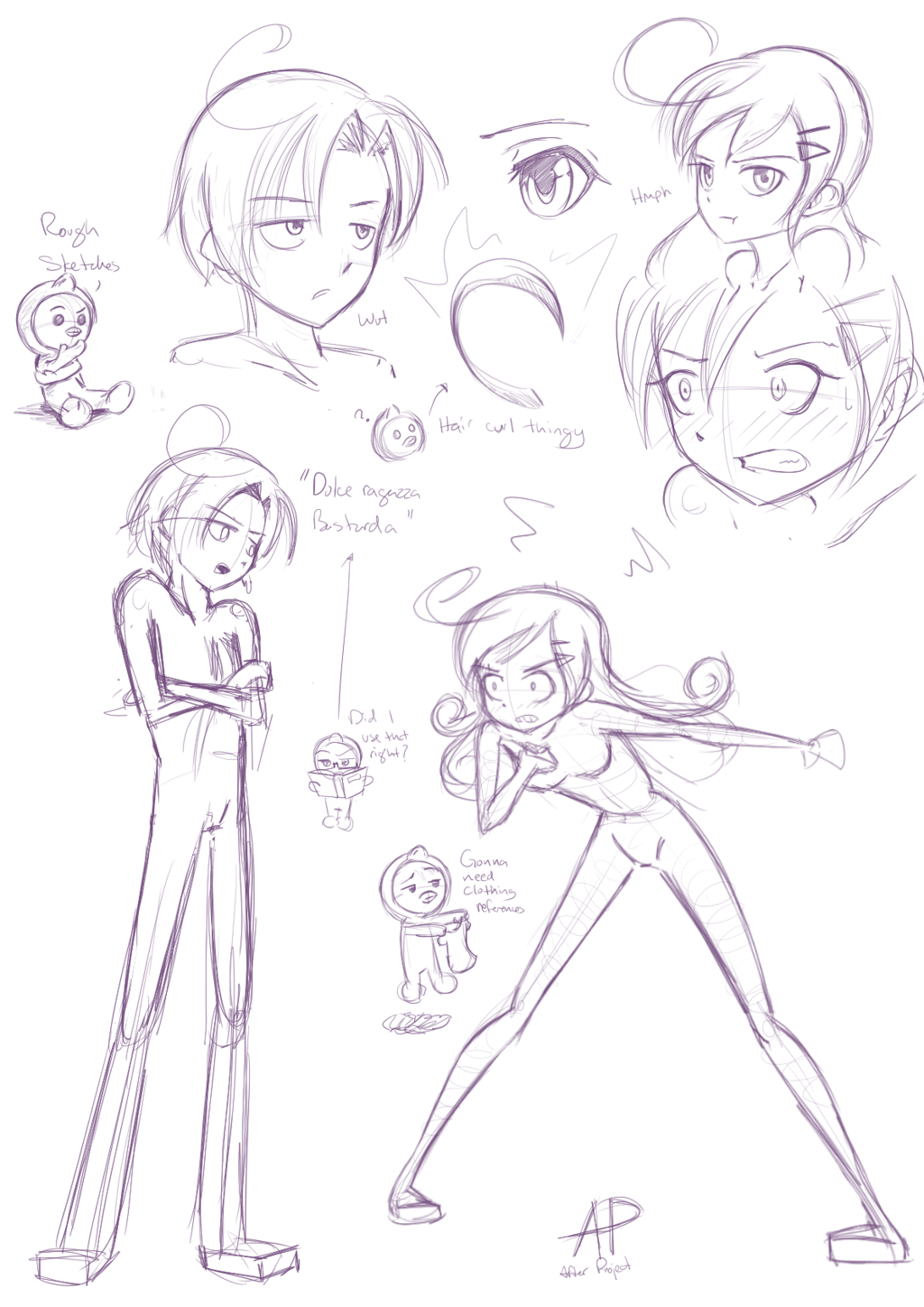 Rough Character Sketches File:rough Sketches.png