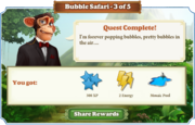 Quest Bubble Safari 3-Rewards