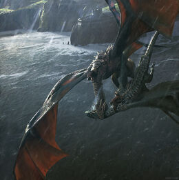 The deaths of Prince Lucerys and his dragon by Chase Stone©.jpg