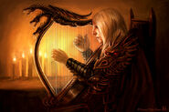 Rhaegar's Harp by Felicia Cano, Fantasy Flight Games©