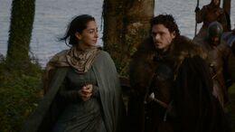 Robb y Talisa viajan HBO.jpg