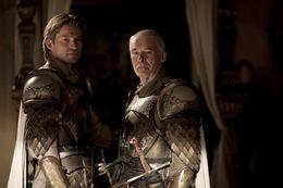 Jaime Lannister y Barristan Selmy HBO.jpg