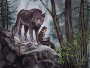 Arya y Nymeria by Veronica Jones, Fantasy Flight Games©