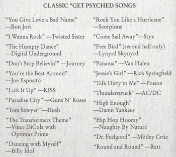 Classic get psyched songs