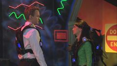 Barney and Nora lasertag