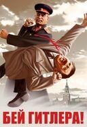 Stalin defeats Hitler