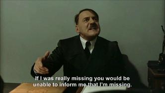 Hitler is informed Hitler is missing