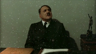Hitler is informed it's snowing