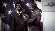 Travis awarded a bronze star by George H.W. Bush