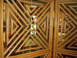 1970s bamboo screen, deco revival