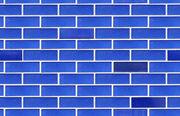 Blue ceramic wall seamless tile