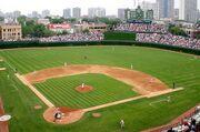 Wrigley baseball field