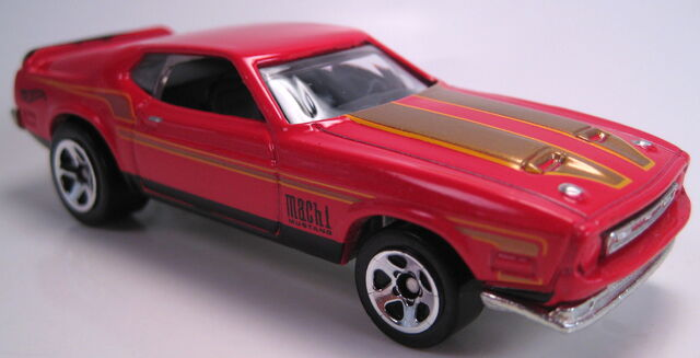 File:'71 Mustang mach I red 50 years set car.JPG