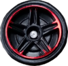 Chrome Red & Black PR5