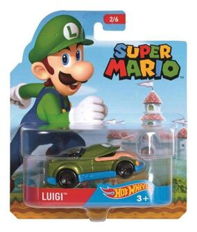 Super Mario Character Car Luigi package
