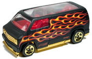 Custom 77 dodge van 2011 black