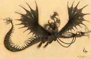 Viking Leader Dragon Concept Art