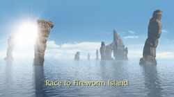 Race to Fireworm Island title card