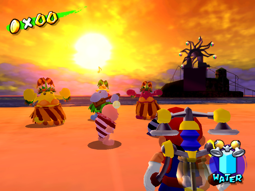 Time Trial 13 Super Mario Sunshine Cleaning up Sirena Beach 9secs ...