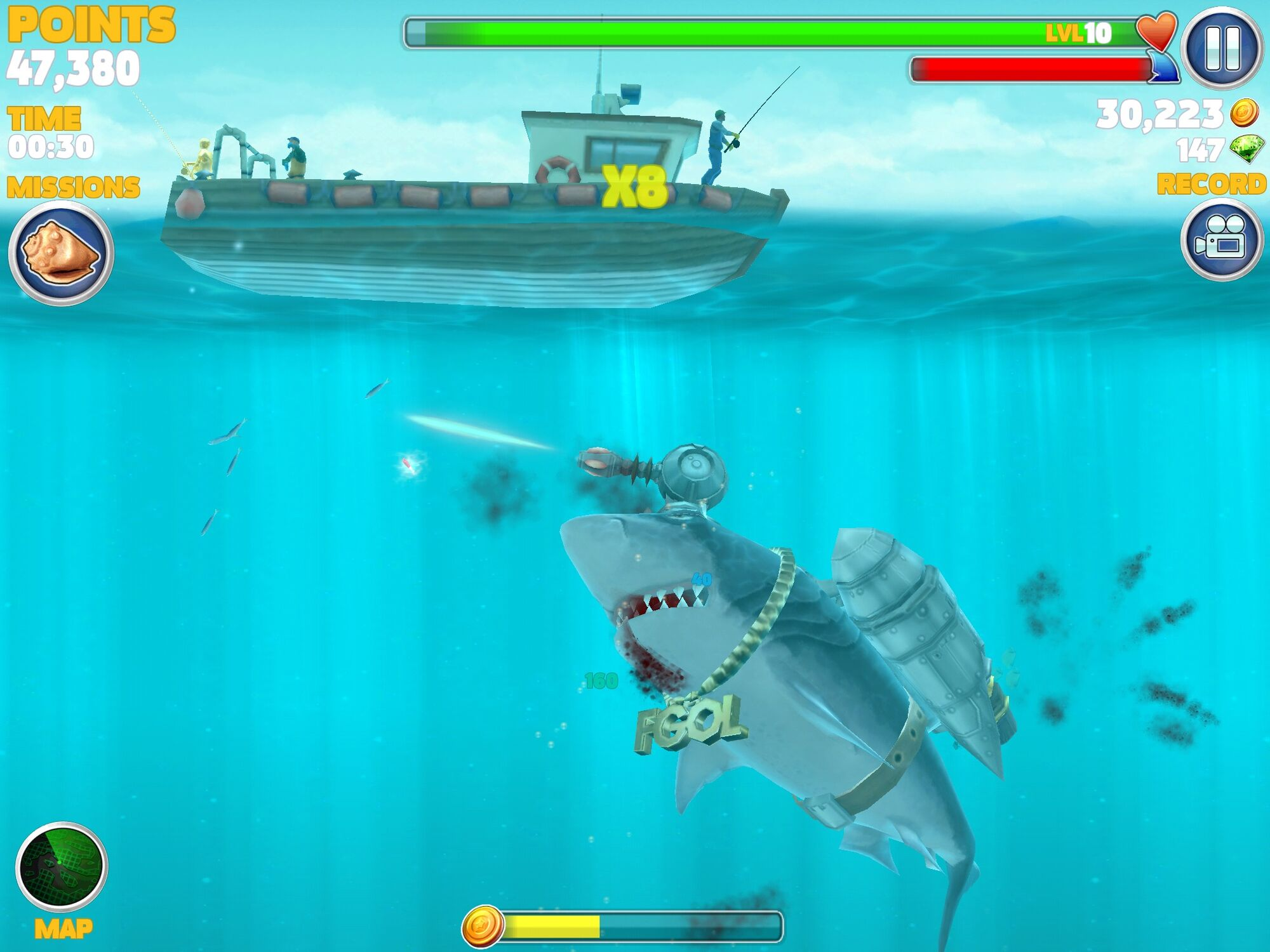 Category carriers hungry shark wiki fandom powered by for Boat fishing games