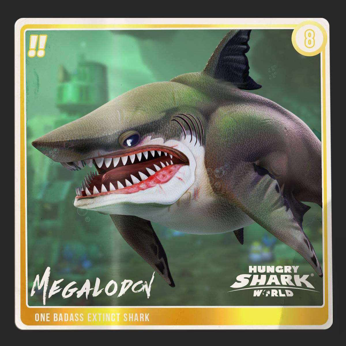 Megalodon (World)   Hungry Shark Wiki   Fandom powered by ...