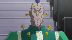 Illumi's entry as his Gittarackur disguise