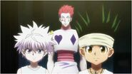 Killua, Gon, & Hisoka face off against Razor.