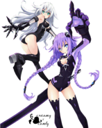 Purple heart and black heart render by creamyxcandy-d5dshmb