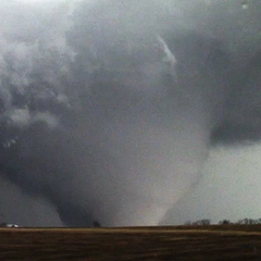 A wedge tornado near Wichita Falls, TX