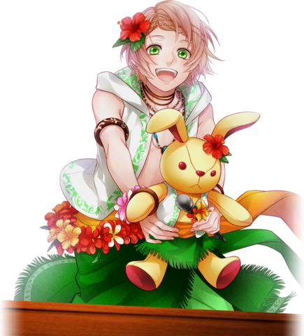 File:(Summer-colored Happy Smile) Kanata Minato GR Transparent.png