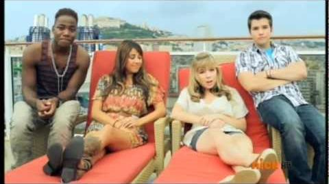 Leon Thomas,Daniella Monet,Jennette McCurdy and Nathan Kress iCruise 2