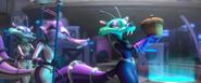 Purple Guard curious about the acorn Scratazon's holding