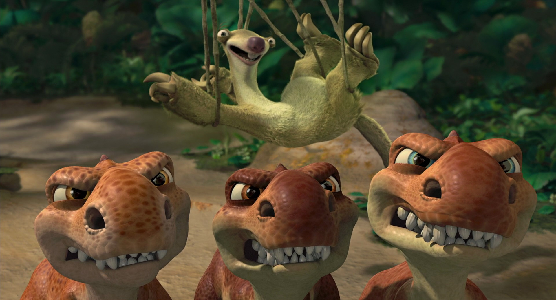 Image - Baby Dinos protecting Sid from mother.jpg | Ice ...