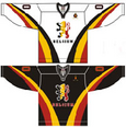 Belgium national ice hockey team Home & Away Jerseys