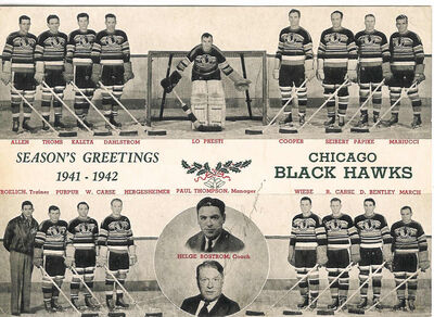1941 42 chicago blackhawks team