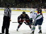 Jackets-Canucks Face-off
