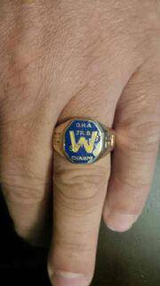 Waterloo Siskins 1964 OHA championship ring