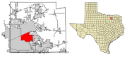 Allen, Texas Map