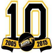 Clare Lions 10th anniversary logo