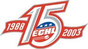ECHL 15th anniverary logo