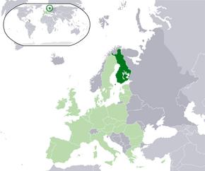 Location Finland EU Europe