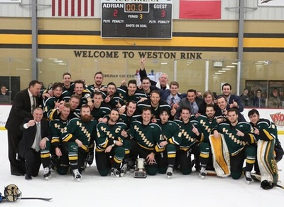 2017 NCHA men's champs St. Norbert Green Knights