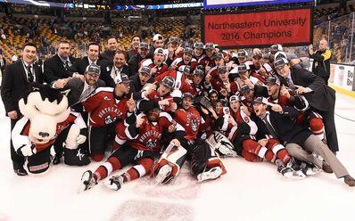 2016 Hockey East Champs Northeastern Huskies