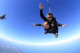 Murr enjoying skydiving
