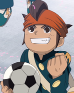 Endou arriving at Raimon HQ
