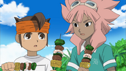 Endou and Tsunami eating