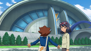 Tenma shocked to see the building GO 1 HQ