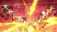 The others helping Tenma Inadan HQ